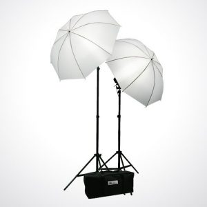 Premium Portrait Photography Studio Video Lighting Kit with 3 Chromakey Black, White, Green Muslin Supporting Background Stand System Case H4045-1457