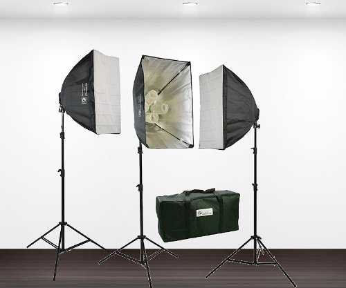 3600 Watt Digital Photography Studio Video THREE Softbox Lighting Light Kit H604S3-0
