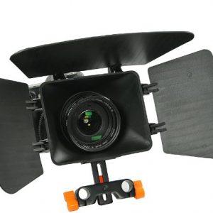 DSLR Shoulder Rig Shoulder Mount Rod Support and Matte Box RL02RMatte-1168