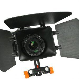 Matte Box for Shoulder Support Rig 15mm rod support follow focus DV GH2 600D MBoxO -0