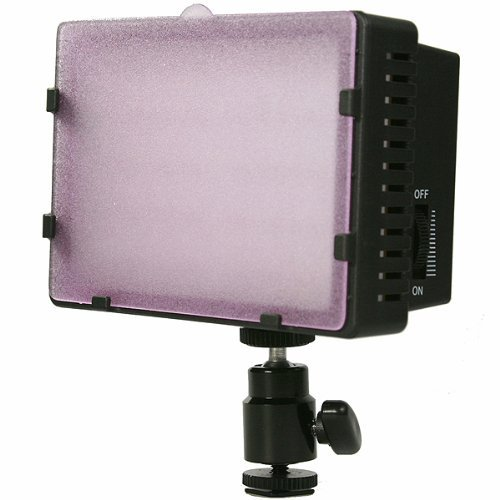 On Camera DV Camcorder DSLR 170 LED Video Photo Lite Panel Lighting with Metal Swivel Hotshoe Adapter CN170-899
