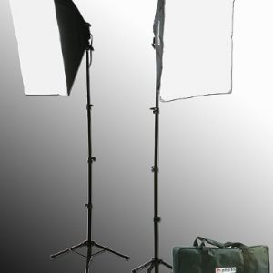 2400 Watt Lighting Kit With Boom Arm Hairlight Softbox Lighting Kit 9004SB2-101