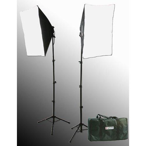 2000 Watt Lighting Kit With Boom Arm Hairlight Softbox Lighting Kit 9004SB-807