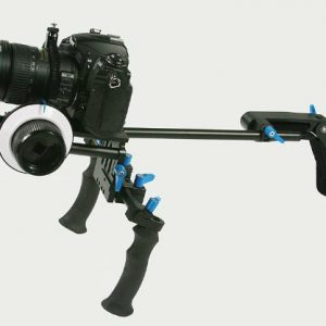 DSLR Camcorder Steady Shoulder Support Rig Mount Cinema Kit w/ Follow Focus, Counter Weight-0