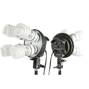 2000 Watt Lighting Kit With Boom Arm Hairlight Softbox Lighting Kit 9004SB-806