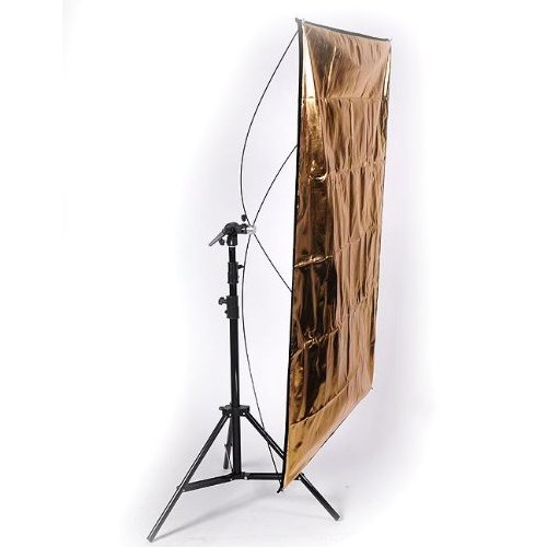 Studio Video Lighting Equipment Silver Gold Panel Portrait Video Reflector with Stand Combo 4055RE2018Combokit-0