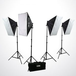 H9004S4 3200 Watt Digital Photography Photo Video Continuous Lighting Light Kit Carrying Case-1417