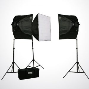 Pro Studio Video 4500W Digital Photography Studio 3 Softbox Lighting Kit Light Set and Carrying Case H9060S3-1434