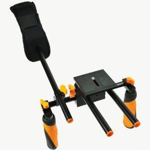 DSLR Shoulder Rig Shoulder Mount Rod Support and Matte Box RL02RMatte-1167