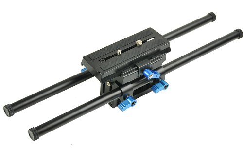 Digital DSLR Rail System 15mm Rod Rig Base Plate for HD DSLRs, Supports Follow focus Railsystem -0