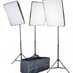 3000 Watt Digital Video Continuous Softbox Lighting Kit VL9026S3-0