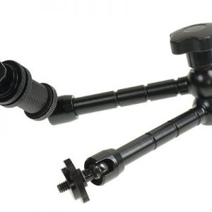TableTop compact Dolly Kit Skater Camera Video Stabilizer with 2 Articulated Magic Arms RLdolly2A-1183