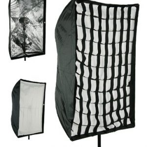 """Photography Umbrella type Softbox 24"""" x 36"""" with Grid for Canon Nikon or Alien Bees 6090GD -0"""