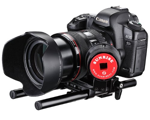Sunrise Digital DSLR Video Photograpy Rail System 15mm Rod Rig with Follow focus Kit SR201A-0