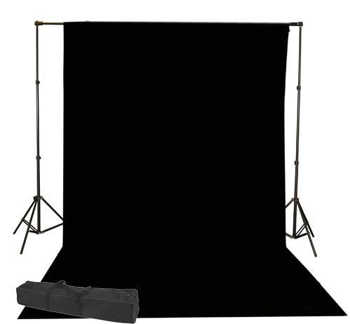 10x20 Black muslin backdro