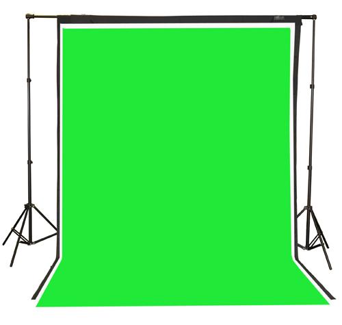 Fancierstudio 2000 watt lighting kit softbox light kit video lighting kit with Background stand 6'x9' Black, White and Chromakey green backdrop by Fancierstudio UL9004SB 6x9BWG-564