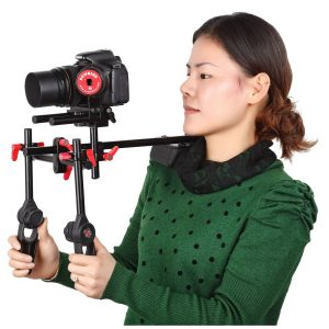 Sunrise DSLR Photography Video Steady Camcorder Shoulder Support Rig Follow Focus Set with Counter Weight SR208B-1140
