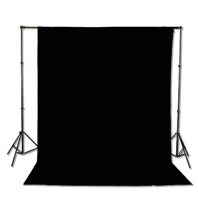 black muslin backdrop