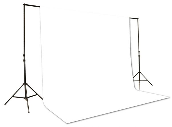 10x12 White Muslin Background + Backdrop Suppport Stand UL30 10x12 White-0