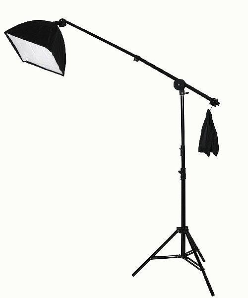 Fancierstudio 2000 watt lighting kit softbox light kit video lighting kit with Background stand 6'x9' Black, White and Chromakey green backdrop by Fancierstudio UL9004SB 6x9BWG-560