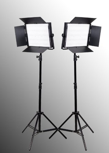 2 x 900 LED Light Panels with Dimmer Video Lighting LED Lighting Kit-0